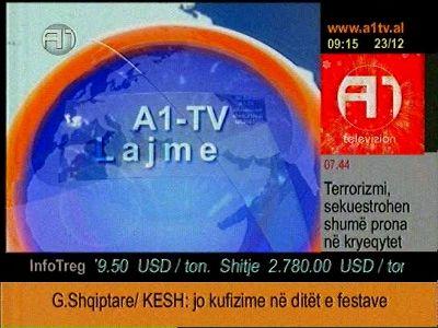 Fréquence A1 Balkan sur le satellite Autres Satellites