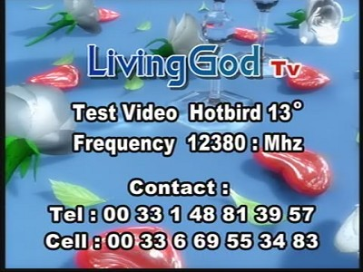 Fréquence Living God tv تردد قناة