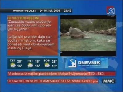 Fréquence TV Slovenija 2 HD sur le satellite Eutelsat 16A (16.0°E)