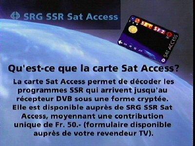 Fréquence SRG SSR Sat sur le satellite Autres Satellites
